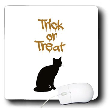mp_164602_1 PS Halloween - Trick or Treat Halloween Black Cat - Mouse Pads