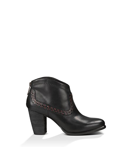 Women's Ugg, Charlotte Ankle Boot BLACK 6 M (Ugg Boots Back Zipper)