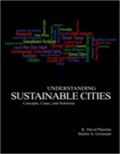 Understanding Sustainable Cities Concepts Cases And Solutions David Pijawka Martin A Gromulat 9781465203441 Amazon Books