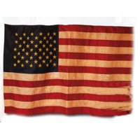 Primitive American Flag - Prim Tea Dyed Americana Flag 3x5 Ft