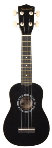 Savannah Color Ukulele with Bag, Black