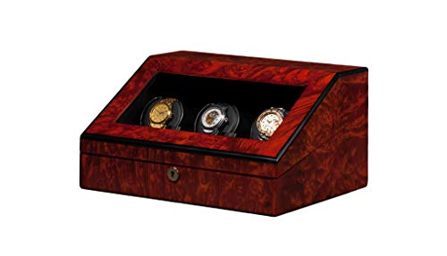Orbita Siena 3 Watch Executive Programmable Winder In Maple Burl