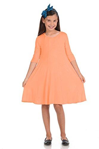 Honey Vanilla Girls' A-Line Trapeze Dress Small 5-6 Years ()