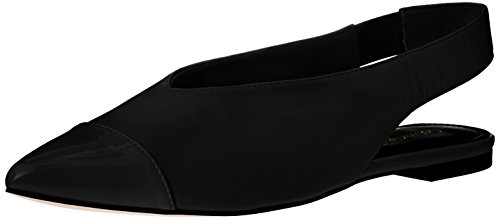 Calvin Klein Women's Alannah Pointed Toe Flat, Black, 9 M US by Calvin Klein