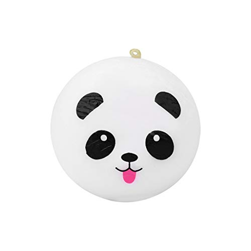 Stress Relief Toys - Bread Panda Face Pendant - Scented Charm Slow Rising Doll Rebound Toys - Birthday Holiday Party Favors for Kids Adults (White) ()
