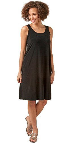 Ellen Parker Sleeveless A-Uncover Dress in Black (Large (12-14), Black)