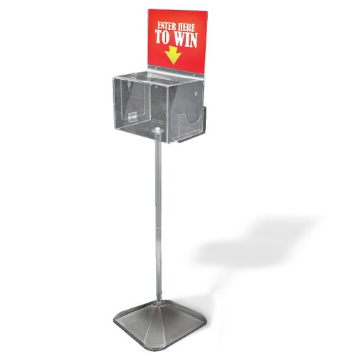 Azar 206300 Large Lottery Box on Pedestal with Lock and Key by Azar