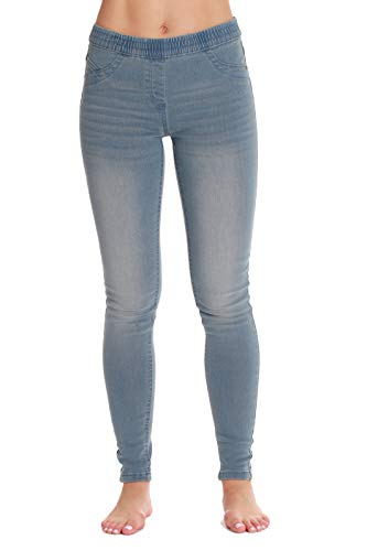 Just Love Denim Wash Jeggings for Women 6775-LTDEN-L