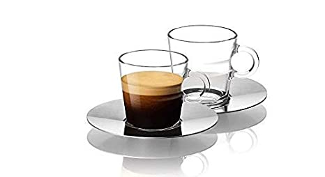 608feeadf5aaa Image Unavailable. Image not available for. Color  Nespresso Set Glass Collection  Espresso Cups ...