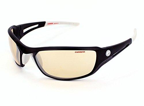 Carrera sunglasses ODC 9AISM Acetate Black - White - Carrera 22 Sunglasses