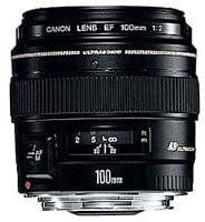 Canon Teleobjektiv Ef 100mm F2 0 Usm Für Eos Schwarz Kamera