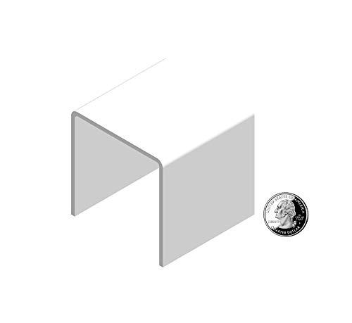 "FixtureDisplays 3"" White Plexiglass Pedestal Lucite Acrylic Display Risers Jewelry Showcase Fixtures - 1/8"" Thick 16905-3INCH-WHITE"