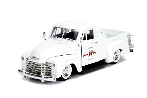 (Jada 1953 Chevrolet 3100 Pickup Truck White Custom Shop Classic Truck (Las Vegas, Nevada) Just Trucks Series 1/24 Die-cast Model Car 99177)