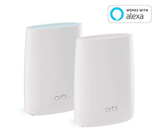 NETGEAR Orbi Ultra-Performance Whole Home Mesh WiFi System - fastest WiFi router and single satellite extender with speeds up to 3 Gbps over 5,000 sq. feet, AC3000 (RBK50) from NETGEAR