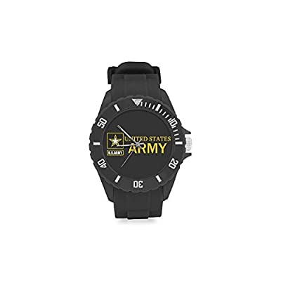Birthday Gifts Cool United States Army Kids' Round Rubber Sport Watch