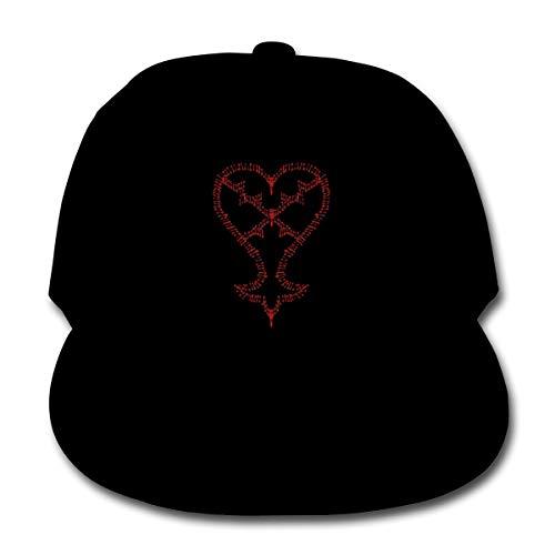 71eba1bb4584f Moniery Heartless Logo Kingdom Hearts Plain Snapback Caps Solid Color Baseball  Hat Boy Black