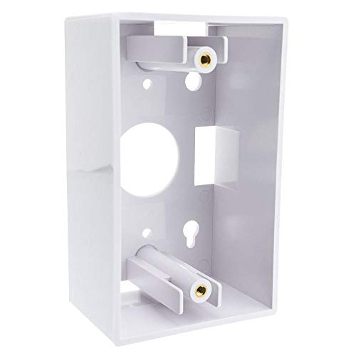 (GOWOS Single Gang Surface Mount Box, White )