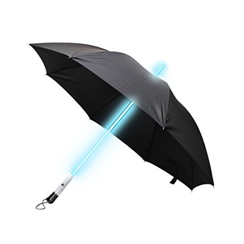Blue Led Umbrella: ZHOL® Umbrella With LED Flashlight Handle (Black) In The