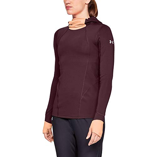 - Under Armour Women's Coldgear Reactor Balaclava Hoodie, Dark Maroon, Small