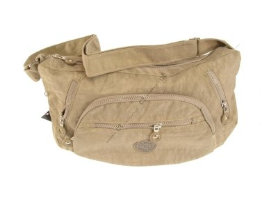 Schultertasche #2468 Nylon crinkle Bag Street Damen Handtasche rot auffällig