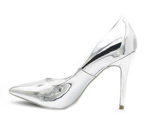 de Plata Fashion Vestir de Mujer Charol Shoes Zapatos xIqqwf0R6