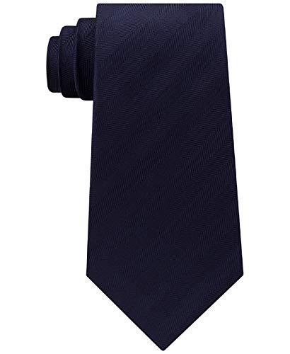Tommy Hilfiger Mens Herringbone Silk Tie (Navy)