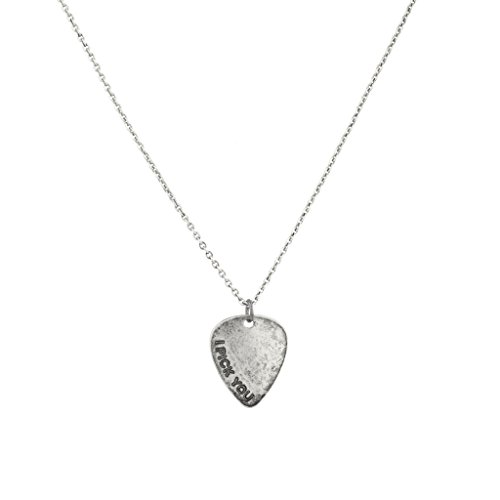 Lux Accessories Burnished I Pick You Guitar Lover BFF Boyfriend Girlfriend Best Friend Forever Necklace