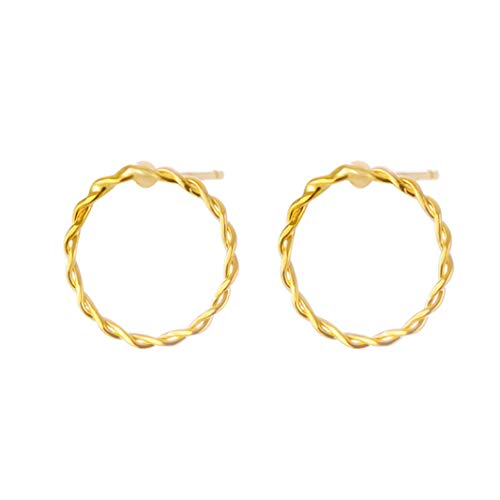 (Sperrins Circle Punk Earrings Hoops Jewelry for Women Girls Gold Color)