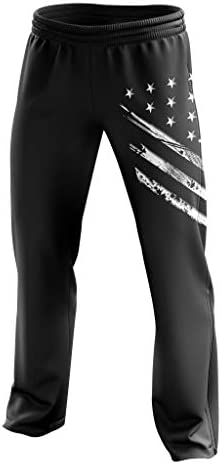 Tactical Pro Supply American Flag Sweatpants – Joggers for Men Women Fitness Workout