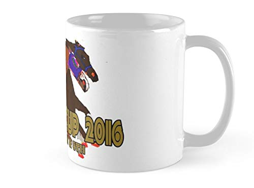 Hued Mia Mug Breeders Cup 2016 horse racing design Mug - 11oz Mug - Features wraparound prints - Dishwasher safe - Made from Ceramic - Best gift for family friends -