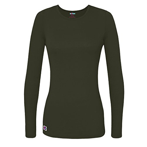 Sivvan Women's Comfort Long Sleeve T-Shirt/Underscrub Tee - S8500 - OLV - L - Long Sleeve Big Tall T-shirt