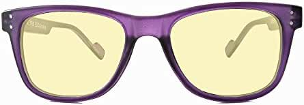 Retro Eyeworks Superflex Wayfarer Computer Glasses 51-19 MM 0x Purple