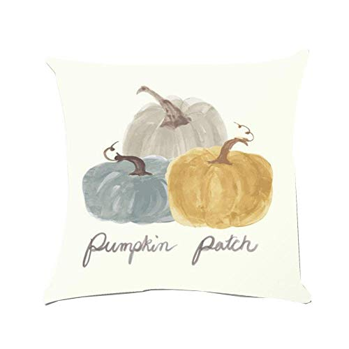 (HGWXX7 Super Soft Pillow Cover Farmhouse Chic Country Halloween Pumpkin Decorative Cushion Case)