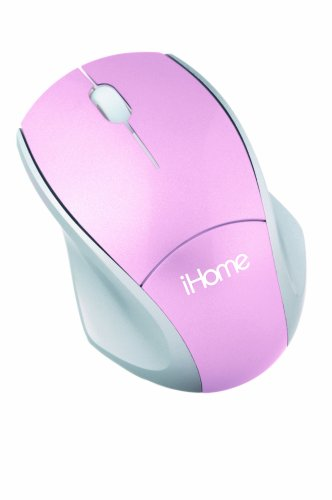 iHome Wireless Laser Notebook Mouse (Pink)