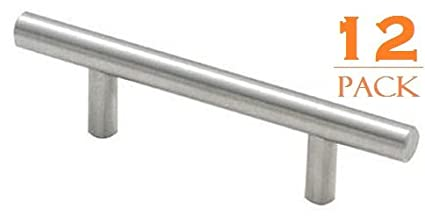 Premium Euro Style Bar Handle Pull Set By AcerCore   Stainless Steel  Cabinet Hardware Handles With