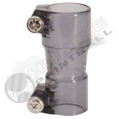 Straight Feed Thumb Screw Elbow - Black Paintball Hopper Adapter