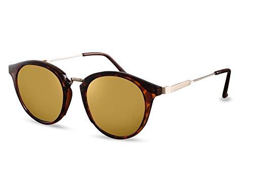 Femmes 011 Lunettes Ca Brun Sunglasses Leo Cheapass Noir Rétro Rondes Hommes 7R1vwq6