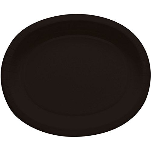 [Creative Converting 8 Count Oval Paper Platters, Black Velvet] (Quick And Creative Halloween Costumes)