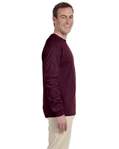 "Gildan Ultra Cotton""¢ adult long sleeve t-shirt Maroon S"