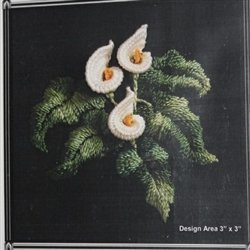 Calla Lily - DK Designs Brazilian Embroidery pattern & fabric #3892