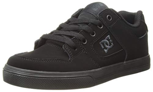 DC Kids' Pure Elastic, Charcoal Black, 4.5 M US Big Kid