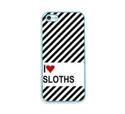Love Heart Sloths Aqua Silicon Bumper iPhone 5 & 5S Case - Fits iPhone 5 & 5S