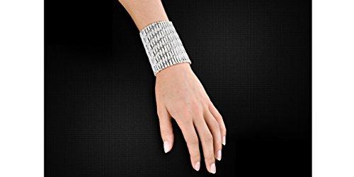 Metal Pointu's Bracelet Torsade plaqué argent, Ø60mm