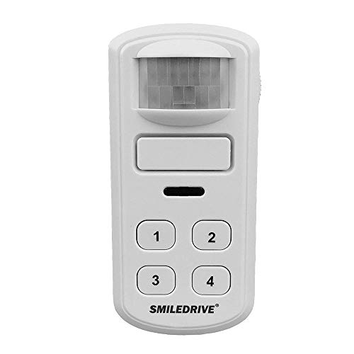 Smiledrive Motion Detection Activated Alarm and Chime with Keypad Passive Infrared Enabled Home Office Security Device…