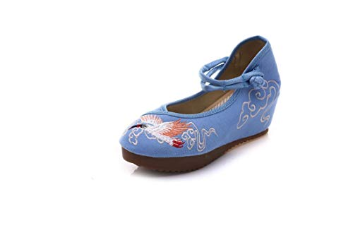 RFF Ballet Embroidered Cloth Spring Shoes shoes Wathet Chinese Embroidered Dance autumn Women's Shoes Wind and Shoes Shoes summer Flats Espadrilles rxrnXpqw