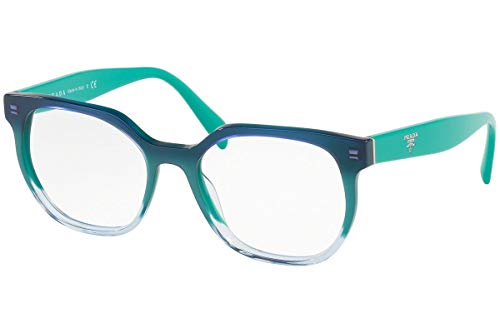 Prada Unisex 0PR 02UV Black/Aqua One - 49mm Prada Sunglasses