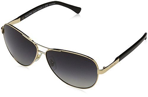 Ralph RA4116 3133T3 Gold / Black RA4116 Aviator Sunglasses Polarised Lens - Sunglasses Aviator Ralph Polarized Lauren Women's