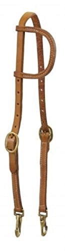 Shiloh Showman Argentina Medium Leather 1 Ear Training Headstall Bridle 2 Trigger Snaps