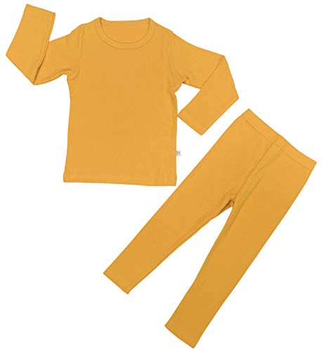 Layette Baby Unisex (Baby Boys Girls Pajama Set 6M-8T Kids Cute Toddler Snug fit Pjs Cotton Sleepwear (Yellow-2 X-Small(75)/6-12Months))