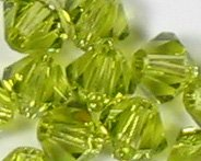 Swarovski Crystal Bicone 5301 4mm LT OLIVINE Beads (48)